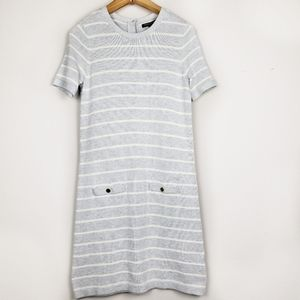 Banana Republic gray striped t shirt sweater dress